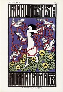 Plakatentwurf für das Frühlingsfest im Augarten