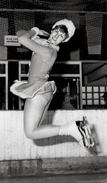 Die Eiskunstläuferin Trixi Schuba
