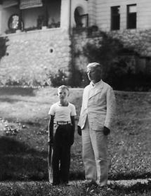 Kurt Schuschnigg mit seinem Sohn