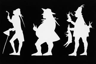 Drei Figuren im Scherenschnitt (1)