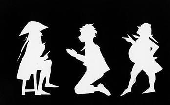 Drei Figuren im Scherenschnitt (2)