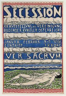 Plakat zur XIX. Ausstellung der Wiener Secession