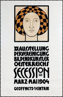 Plakat für XX. Austellung der Wiener Secession