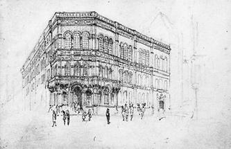 Gebäude der ehemaligen Österreichisch-Ungarischen Bank in der Herrengasse (Cafe Central)