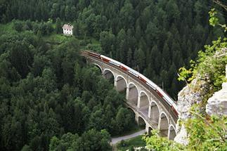 Semmeringbahn: Das Viadukt über die Kalte Rinne