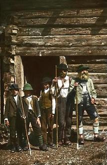 Senner und Hüttenbuben im Zillertal