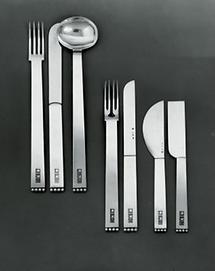 Teile eines Silberbestecks für Fritz und Lili Waerndorfer