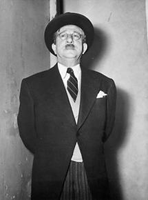 Kabarettist Fritz Heller als Leopold Figl