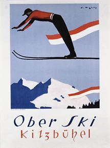 Plakat Ober Ski Kitzbühel