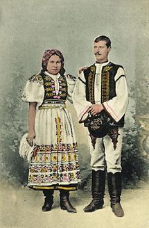 Slowakisches Bauernpaar