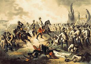 Kaiser Franz Joseph I. in der Schlacht bei Solferino