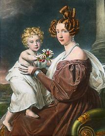 Erzherzogin Sophie mit Erzherzog Franz Joseph