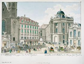 Michaelerplatz mit Michaelerkirche