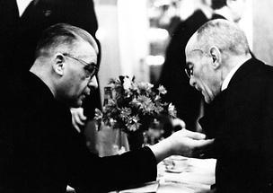 Josef Weinheber und Prof. Srbik