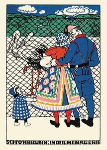Wiener Werkstätte Postkarte Schönbrunn