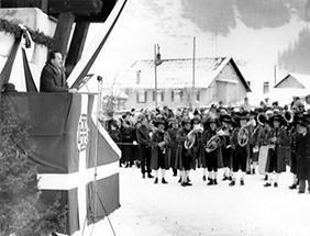 Eröffnung der Galzig-Bahn in St. Anton