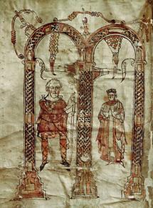 Karl der Große mit seiner Frau