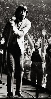 Jagger während des Konzerts in der Wiener Stadthalle