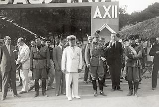 Ernst Rüdiger Starhemberg und Benito Mussolini
