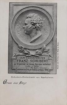 Schubert-Gedenktafel in Steyr
