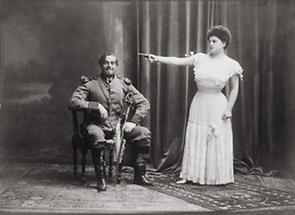 Ludwig Herold und Grete Holm in Der Tapfere Soldat