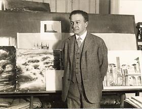 Oskar Strnad beim Unterricht
