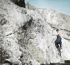 Bergsteigerin an der Waldrastspitze