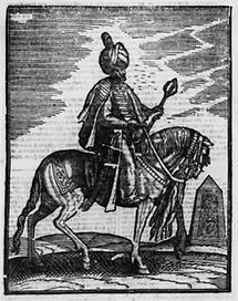 Türkischer Krieger auf Pferd