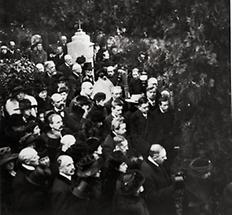 Gustav Klimts Begräbnis am 9. Februar 1918