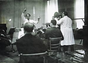 Richard Tauber in einem Berliner Tonstudio