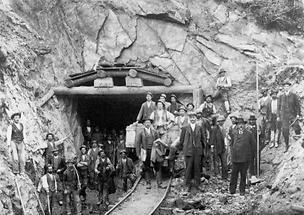 Arbeiter der Tauernbahn