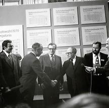 Josef Taus und Bruno Kreisky bei der Nationalratswahl 1979