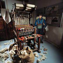 Bandlwebstuhl im Stadtmuseum von Waidhofen