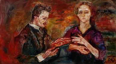 Kunstkritiker Hans Tietze und seine Frau Erika