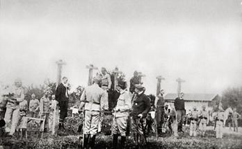 Hinrichtung von mutmaßlichen Deserteuren und Spionen