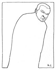 Georg Trakl. Karikatur