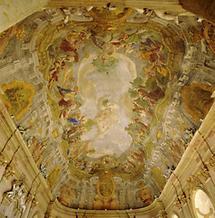 Deckenfresko im Kloster Hradisch