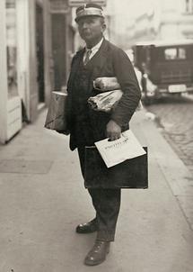 Wiener Dienstmann auf der Straße