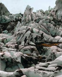 Gletscherpartie in der Venedigergruppe