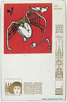 Ver Sacrum-Postkarte No. 1