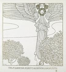 Widmungsblatt für Rudolf von Alt zum Geburtstag