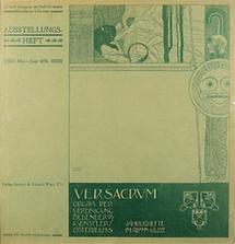 Umschlag Gustav Klimts für Ver Sacrum