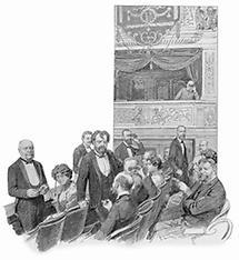 Der Kaiser in der Incognitologe des Burgtheaters