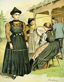 Bäuerliche Tracht aus Vorarlberg (1)