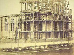 Bauphase der Votivkirche in Wien