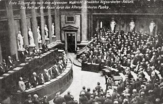 Parlamentssitzung des neuen Reichrates