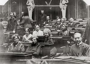 Erste Frauen im österreichischen Parlament