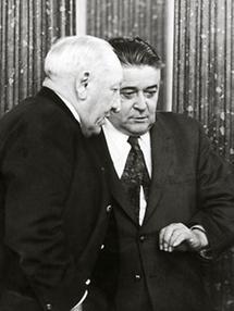 Josef Krainer und Eduard Wallnöfer im Gespräch