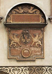Wappentafel an der Hofburg
