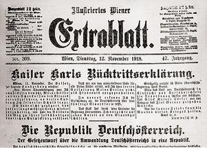 Kaiser Karls Rücktrittserklärung